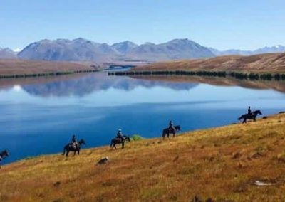 Things to do from Isolation Bay include a day of horse trekking with Mackenzie Alpine Horse Trekking, Lake Tekapo.