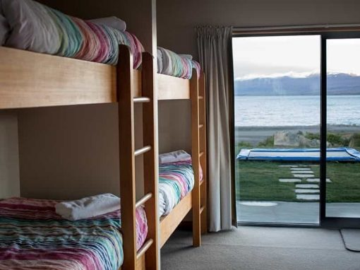 Isolation Bay bedroom with six pairs of bunk beds.