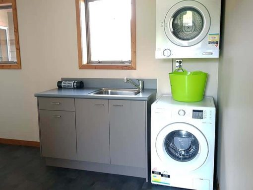 Isolation Bay's fully equipped laundry facilities.